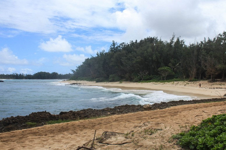 View from Kawela Bay North Shore Oahu Hawaii Kahuku Point