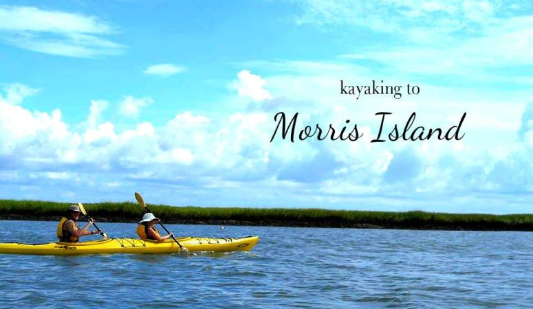 Kayaking to Morris Island