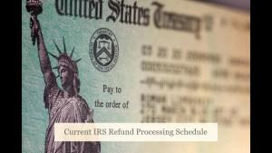 2020 and 2021 IRS Refund Schedule