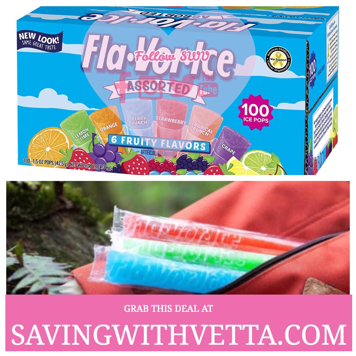 Fla-Vor-Ice Freezer Pops, Gluten & Fat Free Ice Pops ...