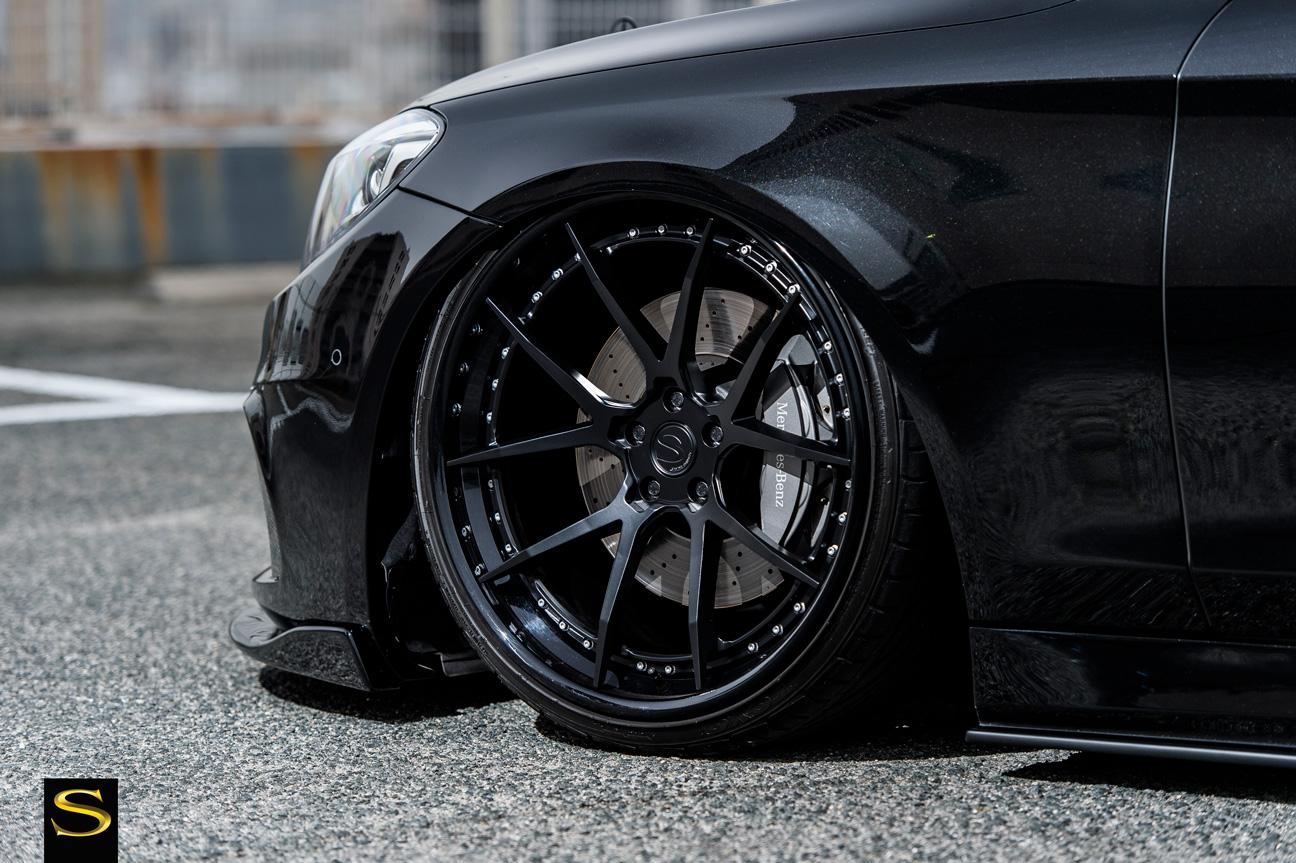 Black Di Forza BM14 Savini Wheels