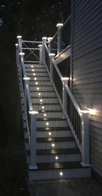 Residential Ornate Deck and stairs