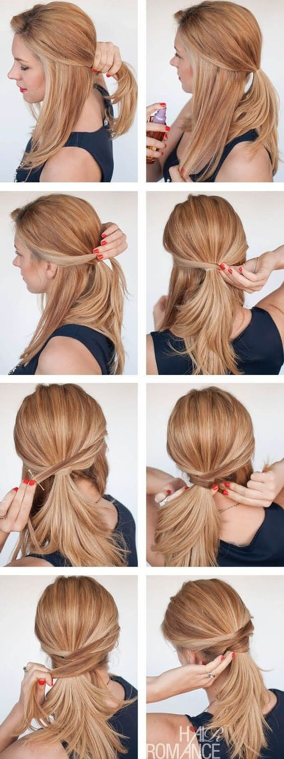 Stylish ponytail models for special nights