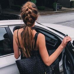 Knit and ponytail models together - 4