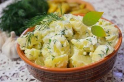 Potatoes with mayonnaise