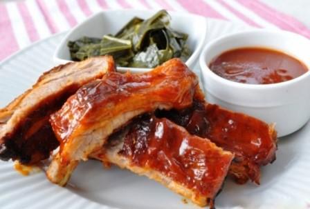 Coaste de porc cu sos american