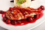 Chicken breast with cherry sauce