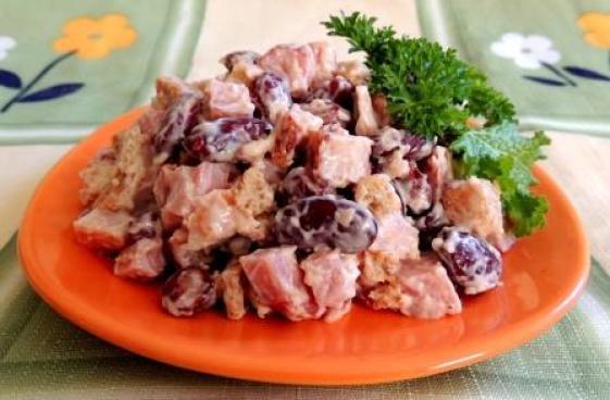 Salata de vita cu fasole rosie