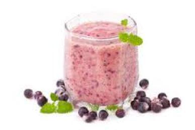 Shake de slabit cu fructe de padure