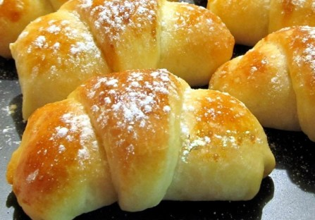 Rolls with walnuts prepared for Easter