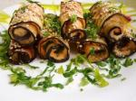 Eggplant rolls with chicken breast