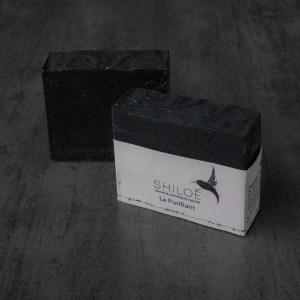 Savon purifiant au charbon végétal savonnerie shiloé savonnerie artisanale tours