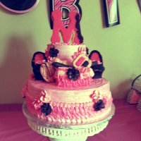 Pink Little Diva Birthday Cake