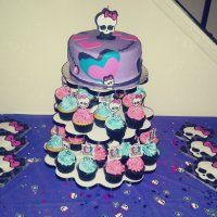 Playing with Fondant - A Monster High Cake