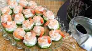 Cucumber-Shrimp Bites