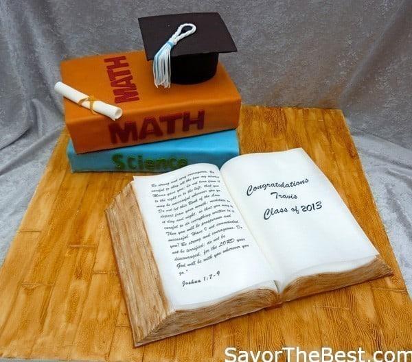 Graduation Book Cake Savor The Best