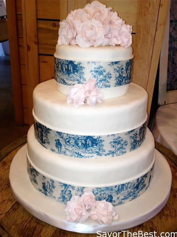 wedding cake designs 2014 blue toile wedding cake design savor the best 22464