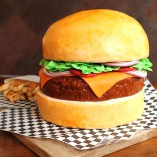 Cheeseburger Cake Design