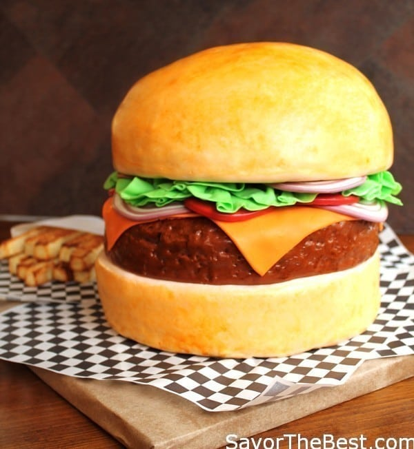 Cheeseburger Cake Design