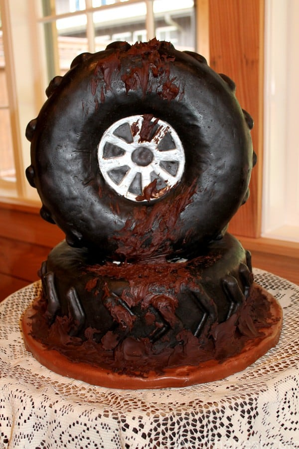 Muddy Tire Cake (Groom's Cake) - Savor the Best