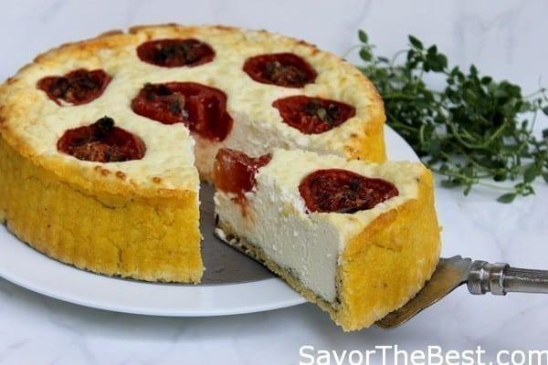 Polenta-Tomato-Quiche