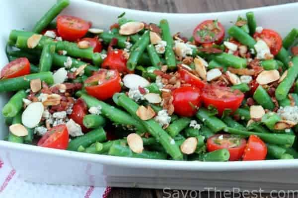 Green Bean Salad with Bacon and Tomatoes