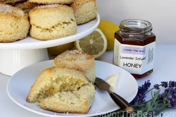 Lemon-Buttermilk-Scones-with-Lavender-Infused-Honey-3
