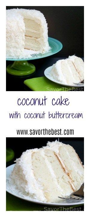 coconut cake with coconut buttercream