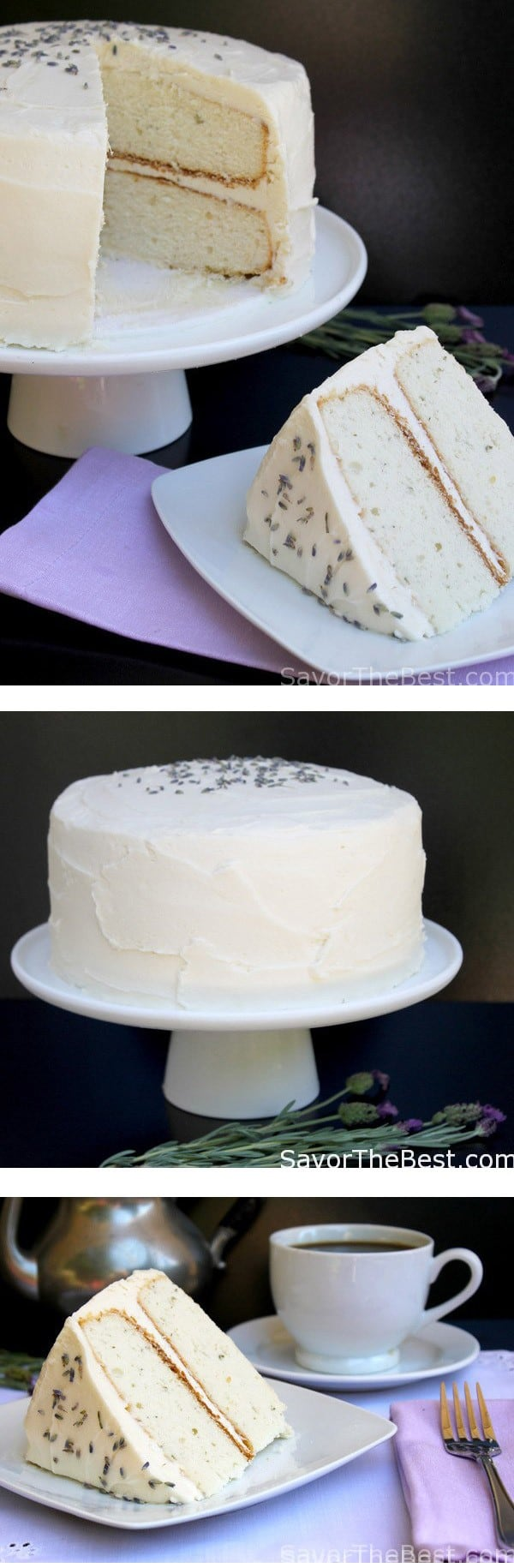 lavender cake with cream cheese frosting