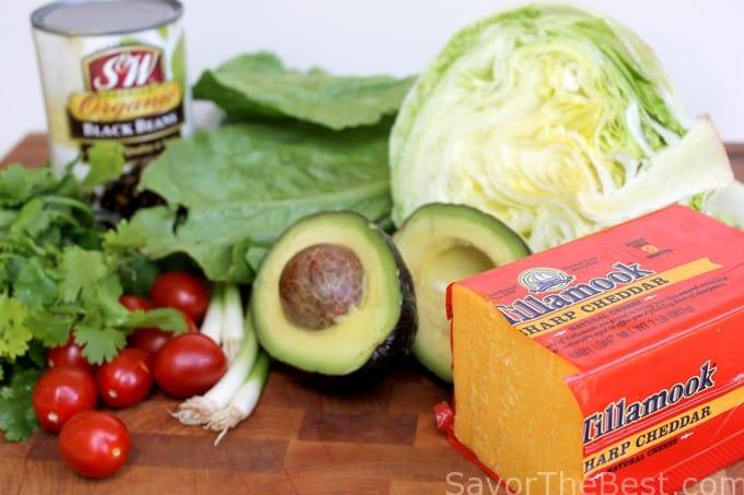 Beef Taco Salad in Tortilla Bowls