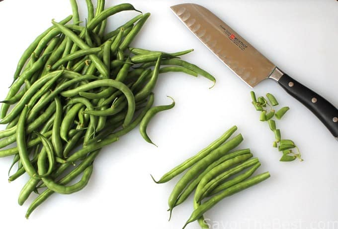 Green Beans with Bacon Crumbles