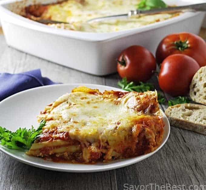 Manicotti with ricotta cheese