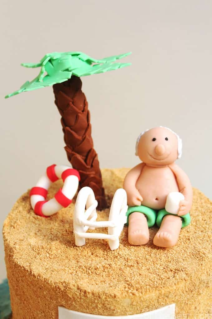 lazy day beach cake for retirement