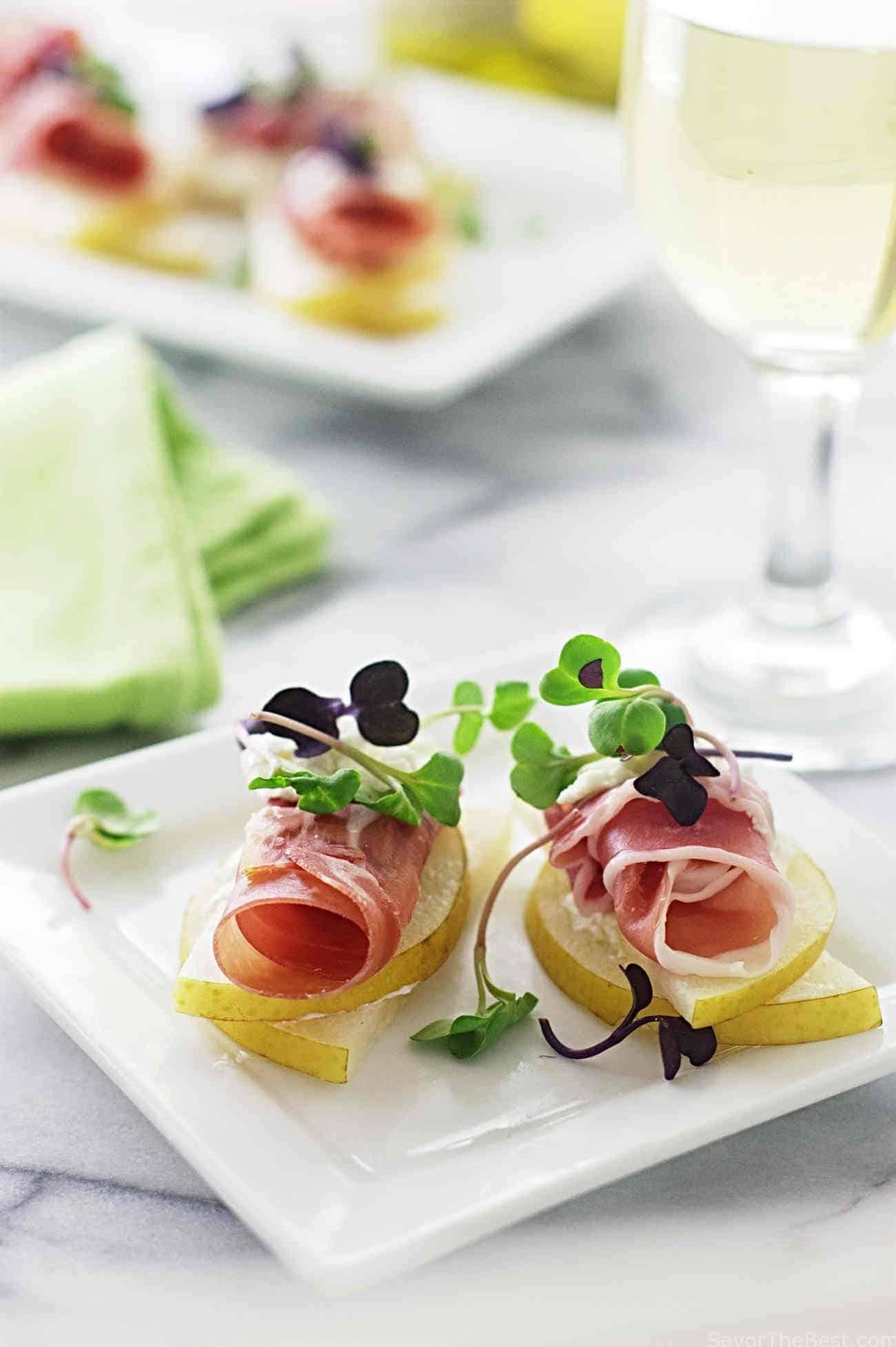 Asian Pear, Prosciutto Appetizers