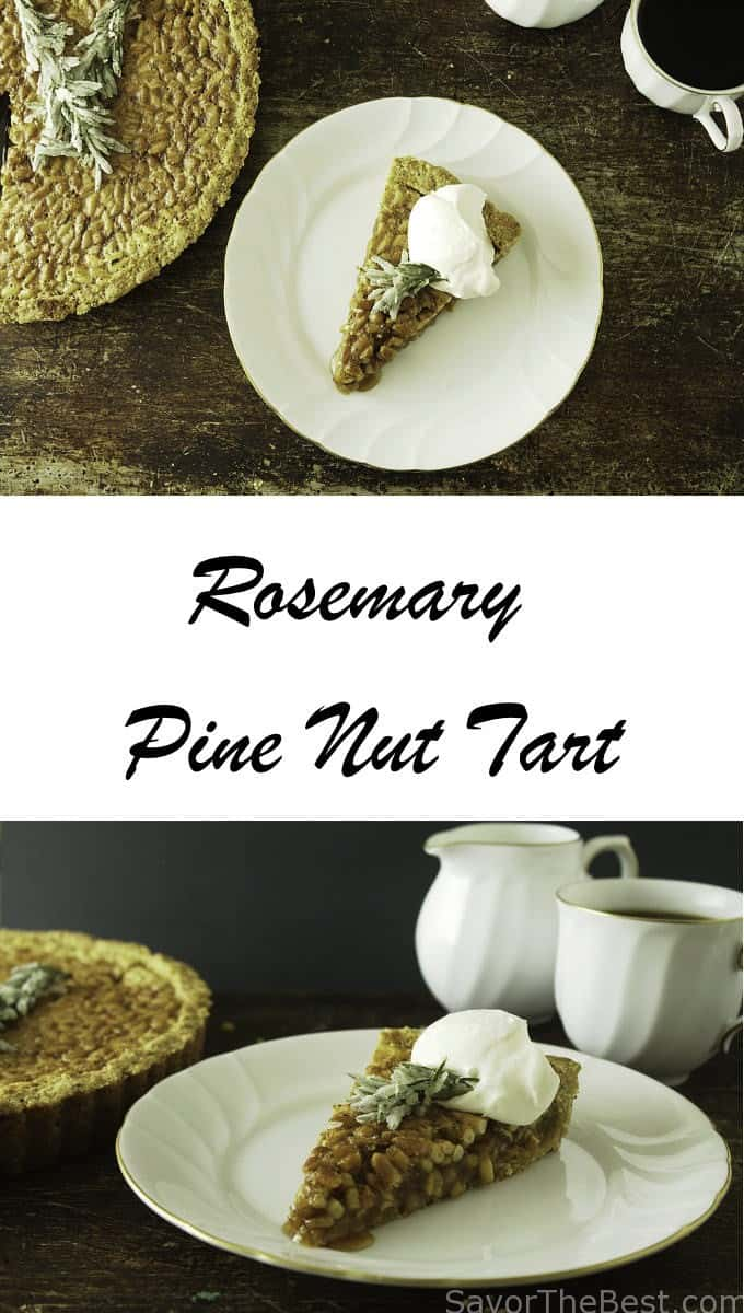 rosemary pine nut tart.. Delicious