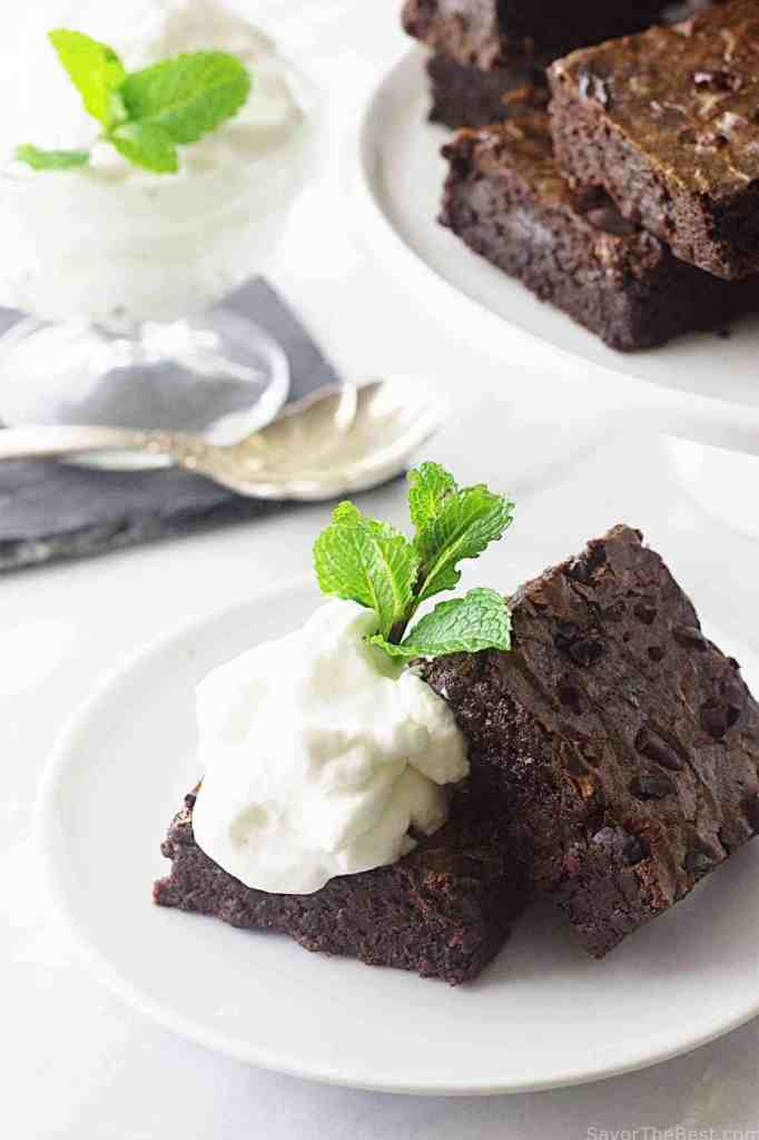 brownies with cocoa nibs