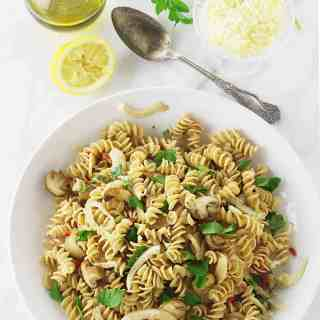 Kamut Whole Grain Pasta Spirals with Fennel and Mushrooms