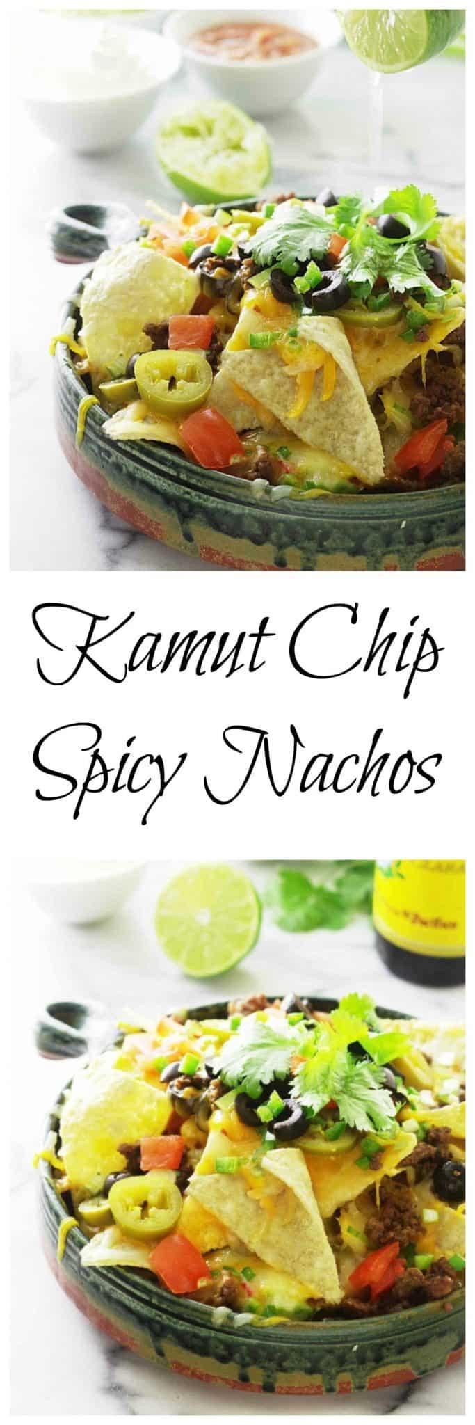 kamut chip spicy nachos