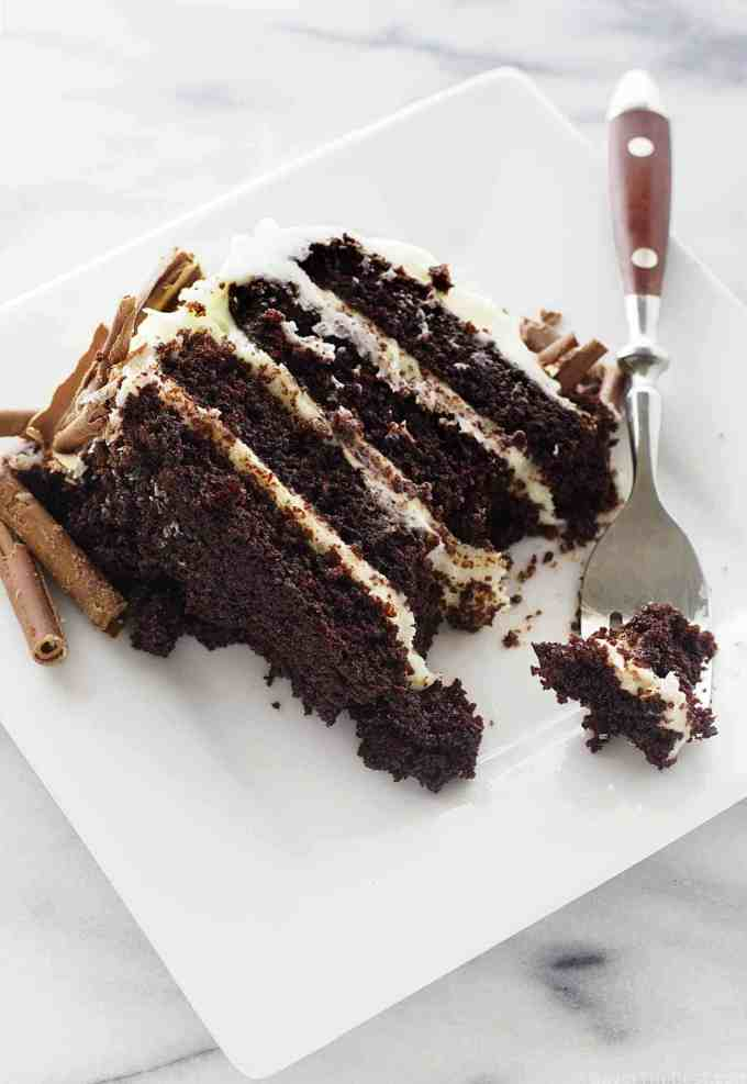 Intense chocolate cake