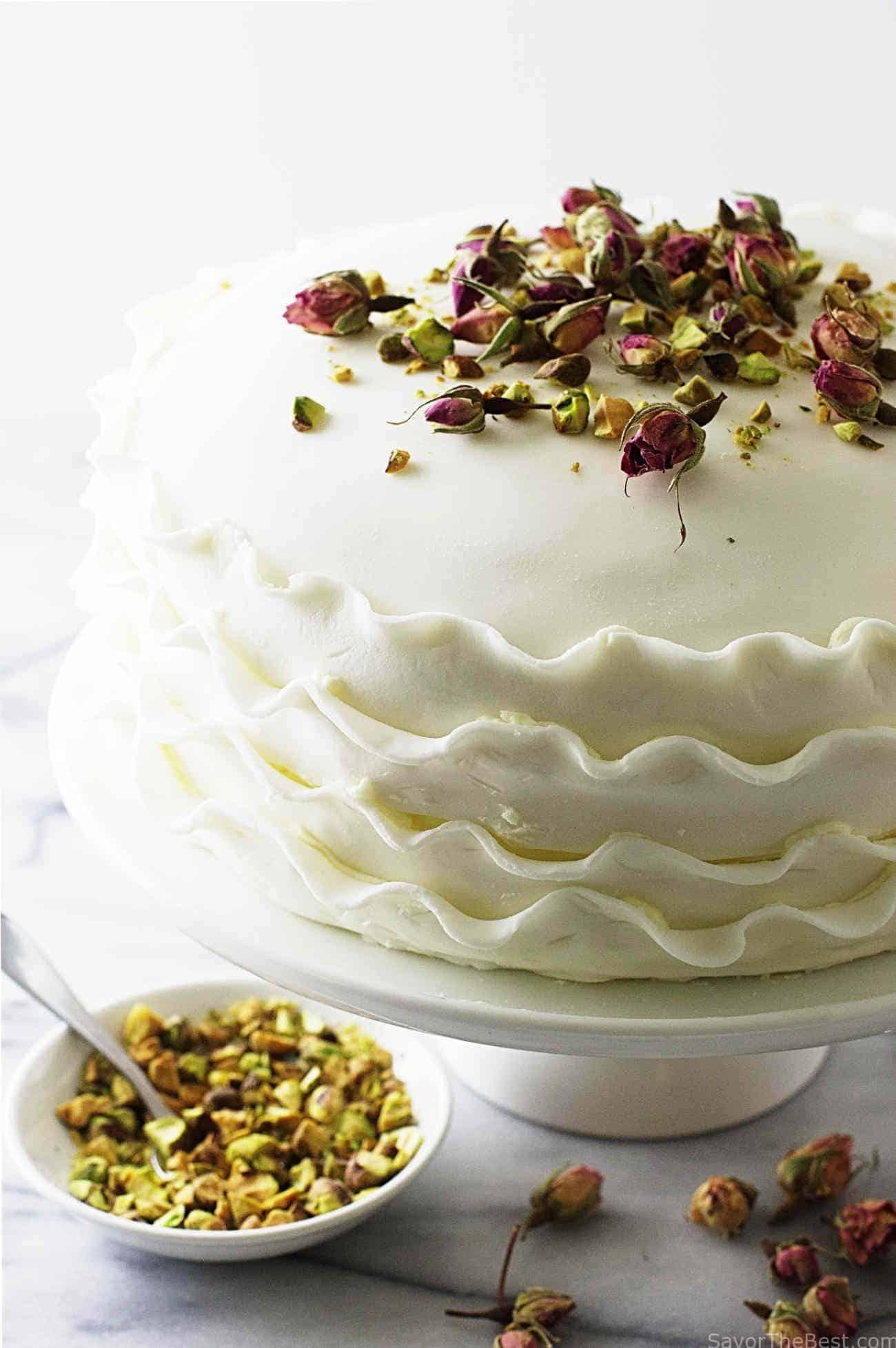 Vanilla Rose And Pistachio Cake Savor The Best