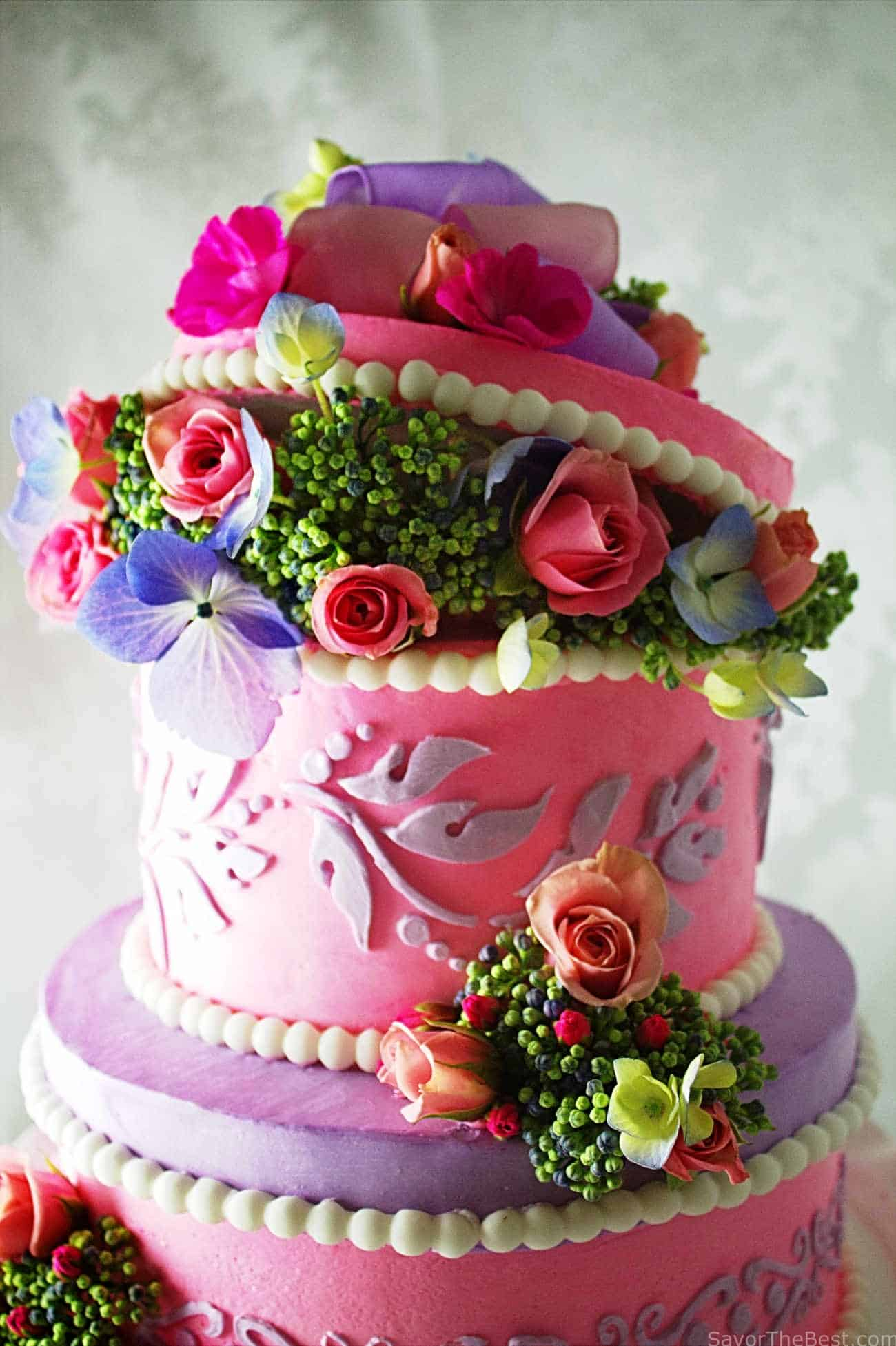 Hat box cake design