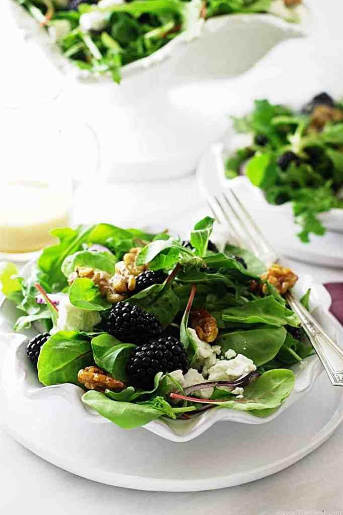 Blackberry-Feta Salad with Mache