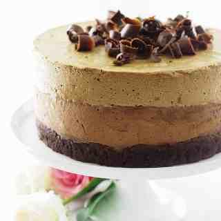 Chocolate Amaretto-Espresso Mousse Cake