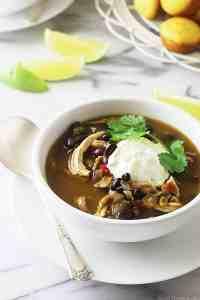 Southwest Black Bean-Chicken Soup