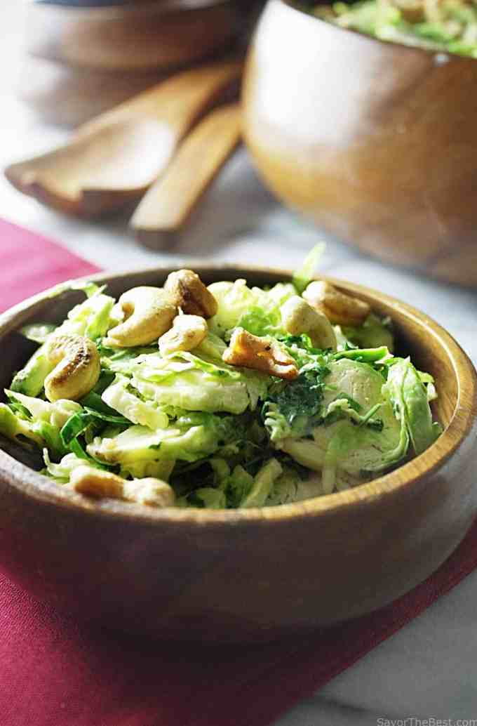 Shaved Brussels Sprout Salad With Caesar Dressing