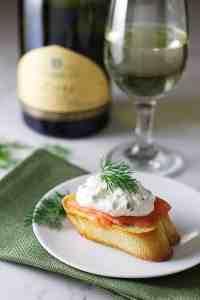 Mascarpone and Smoked Salmon Bruschetta