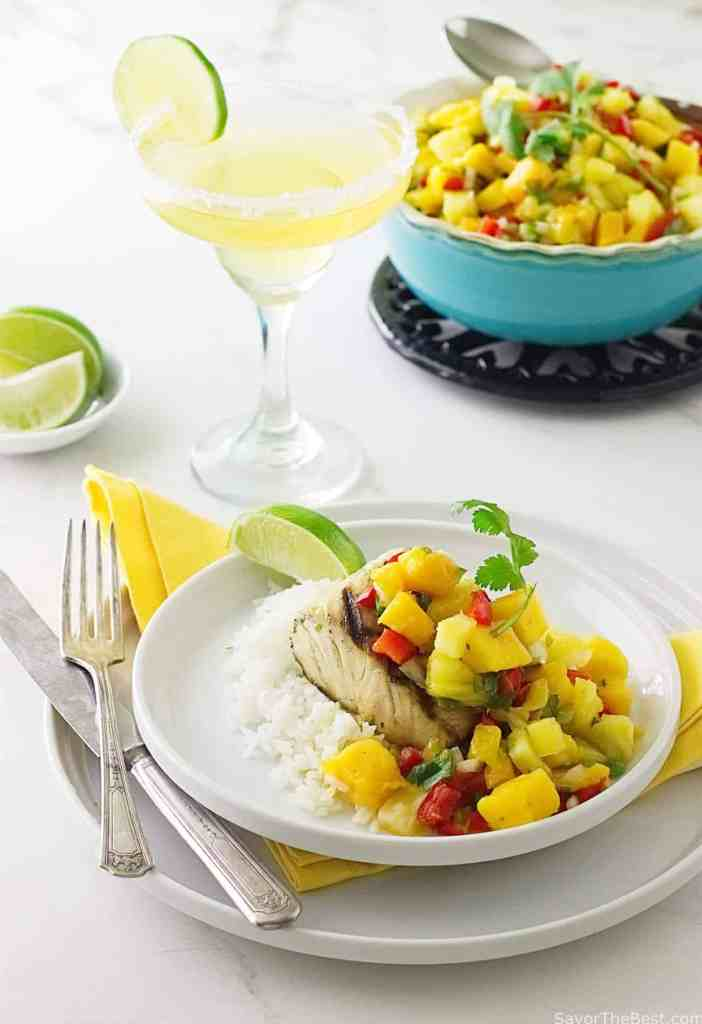 Grilled Mahi-Mahi with Mango Salsa