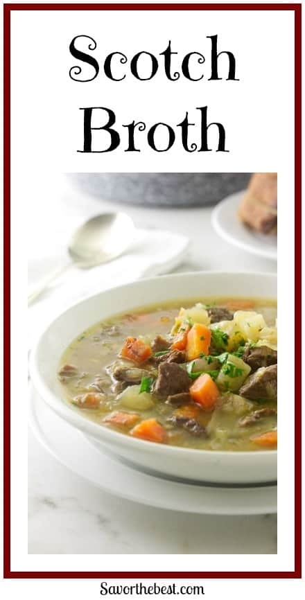 Scotland's classic scotch broth is a soul-warming soup made with lamb, barley and root vegetables.