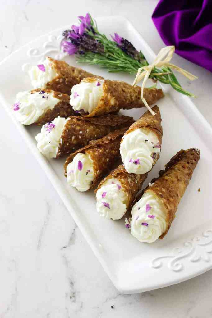Lacy Lavender Cream Horns