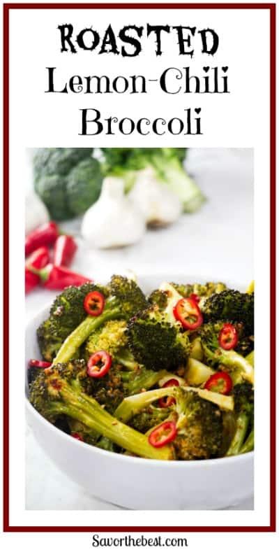 roasted lemon chili broccoli